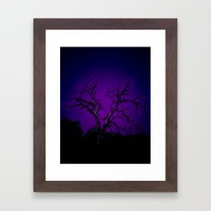 Biloxi tree blue Framed Art Print