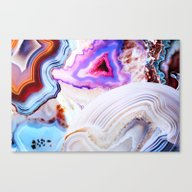 Canvas Print featuring Agate, A Vivid Metamorph… by Elena Kulikova