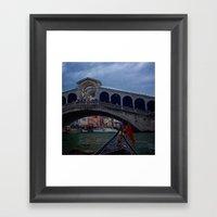 Venice Gondola Ride Framed Art Print