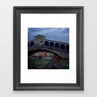 Venice Gondola Ride Framed Art Print