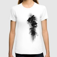 Enchanted Forest Womens Fitted Tee White SMALL