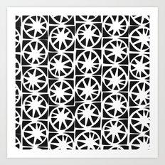 batik stars Art Print