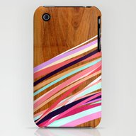 Wooden Waves Coral iPhone (3g, 3gs) Slim Case