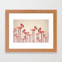 Transmogrified Flamingo … Framed Art Print