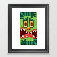 Green Monster Framed Art Print