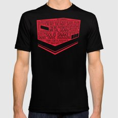 Metal Gear Solid Typogra… Mens Fitted Tee Black SMALL