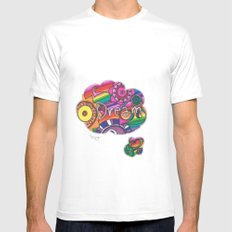 Dream White SMALL Mens Fitted Tee
