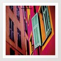 Colors of Vieux Nice Art Print