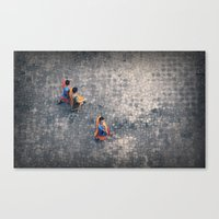 Monks in the city Canvas Print