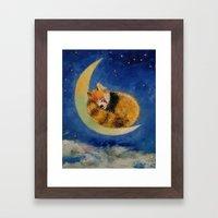 Red Panda Dreams Framed Art Print