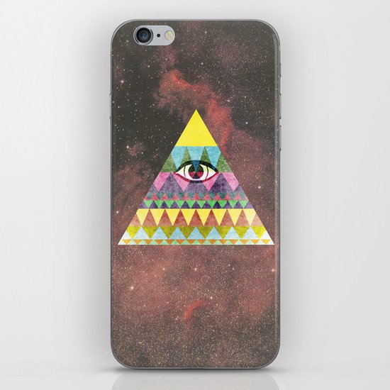 Pyramid in Space. iPhone & iPod Skin