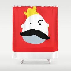 Moustache Viking Shower Curtain