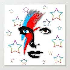 Bowie's Eyes Canvas Print