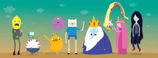 Adventure time characters Art Print