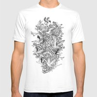 Blooming Flight Mens Fitted Tee White SMALL