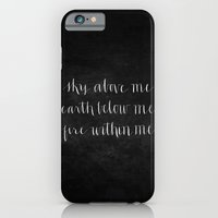iPhone & iPod Case featuring Fire Within Me // White on Black by Magpie Paper Works