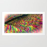 Walking on Rainbows Art Print