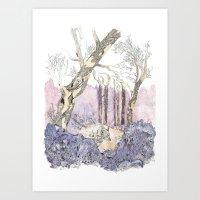 1/3 Magic Feral Woods Art Print
