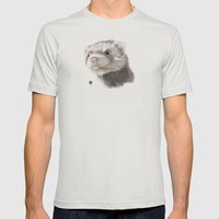 Ferret Mens Fitted Tee Silver SMALL