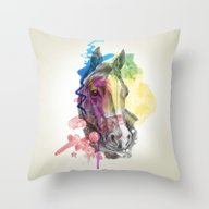 Throw Pillow featuring Horse  by Mark Ashkenazi