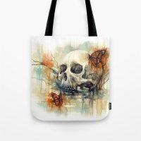 Calavera Mariposa - Wate… Tote Bag