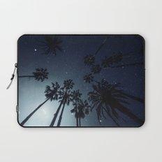 Palm Trees, Night Sky, Stars, Moon Laptop Sleeve