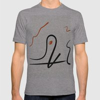 Sea monster Mens Fitted Tee Athletic Grey SMALL