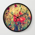 Morning Light - Poppy Field Wall Clock
