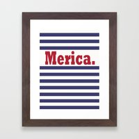Merica Framed Art Print