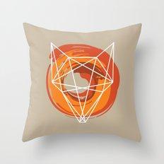 Geometric Fox Throw Pillow