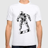 Astro-Skater Mens Fitted Tee Ash Grey SMALL