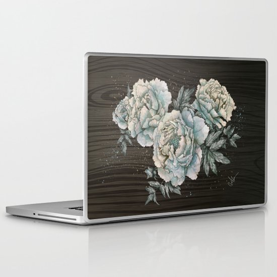 Peony Wood Laptop & iPad Skin