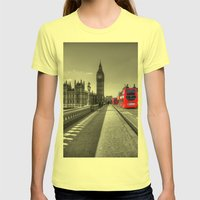 Big Ben, London Womens Fitted Tee Lemon SMALL