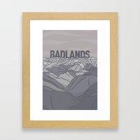Badlands Framed Art Print