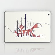 Laptop & iPad Skin featuring Foxes by Ale Giorgini