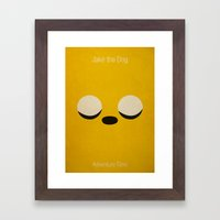 Minimalist Adventure Time Jake Framed Art Print