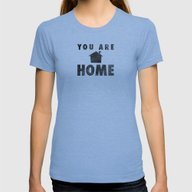 You Are Home Womens Fitted Tee Tri-Blue SMALL