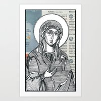 Madonna Of Today's Horos… Art Print