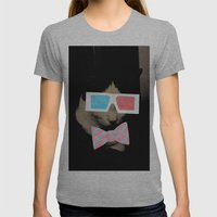 Hip Cat Womens Fitted Tee Athletic Grey SMALL