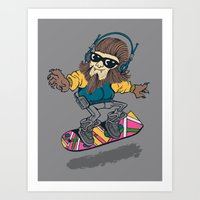 teen wolf on a hover board Art Print
