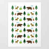 The Essential Patterns of Childhood - Forest Art Print