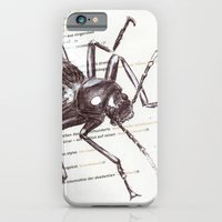 iPhone & iPod Case featuring Black Beetle by myripART