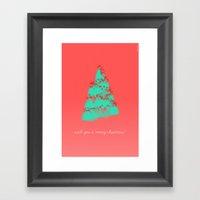 Wish You A Merry Christm… Framed Art Print