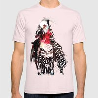 Bald Mens Fitted Tee Light Pink SMALL