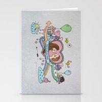 Valentine's Doodle Stationery Cards