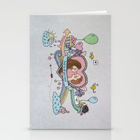 Valentine's Doodle Stationery Cards
