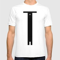 Balken Mens Fitted Tee White SMALL