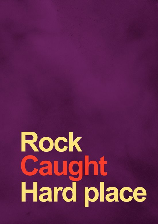 Rock and a hard place Canvas Print