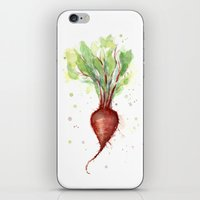 Red Beet Watercolor | Ve… iPhone & iPod Skin