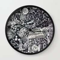 White/Black #2  Wall Clock